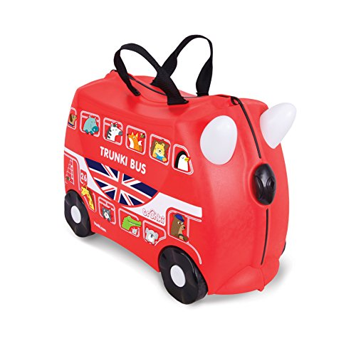 Trunki - Boris the Bus - Maleta infantil para niño (Negro/Rojo)