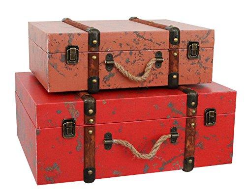 Juego de 2 maletas - Caso de madera de estilo antiguo