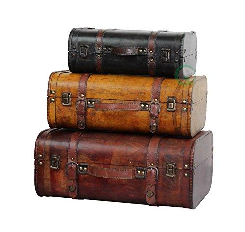 Juego de 3 maletas coloreadas vintage - Estilo antiguo