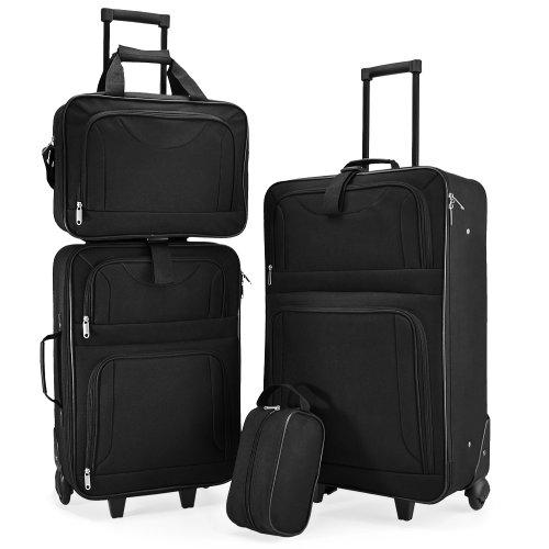 Juego de valijas para viaje de 4 piezas - Apilables y livianas
