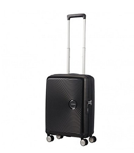 American Tourister Soundbox - Spinner 55/20 Expandable Equipaje de mano, 55 cm, 35.5 liters, Negro