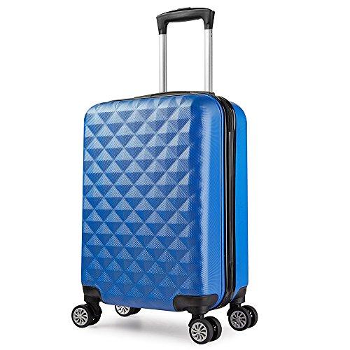 Maleta cabina 56 cm rígida policarbonato rigida con ruedas Azul