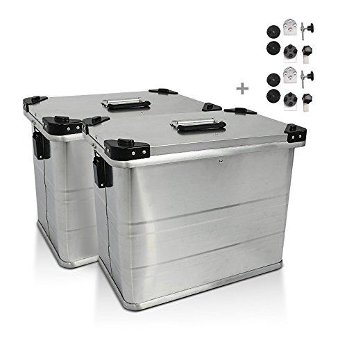 Maletas laterales aluminio 2x45l+kit 18mm