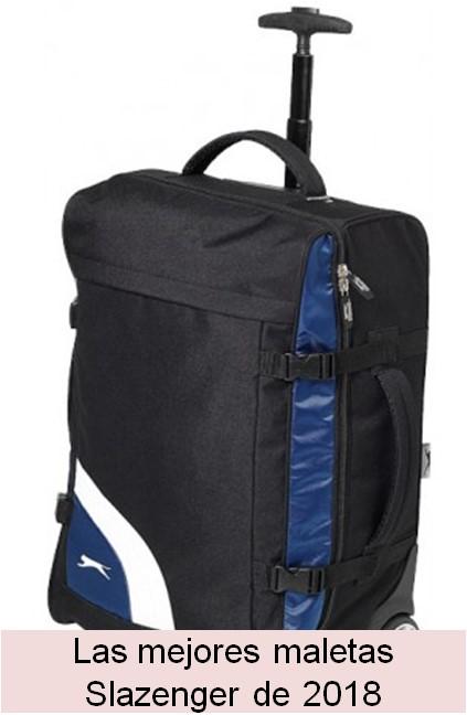 dec88454a Slazenger - Maleta de ruedas modelo Wembley (35 x 20 x 52cm/Negro/Azul)