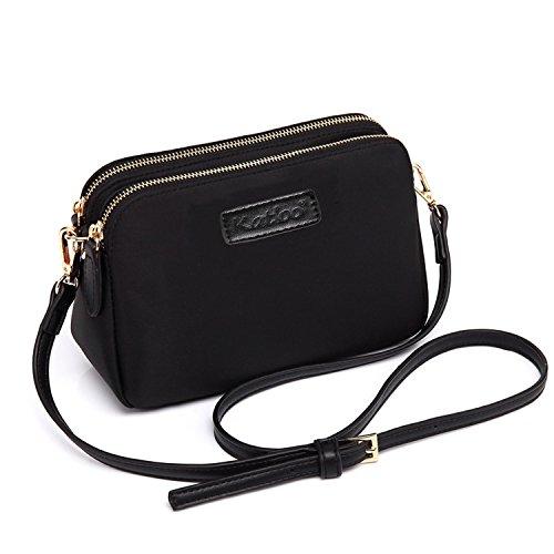 53803d971 Katloo Shoppers y Bolsos de Hombro Bandolera Nylon Mujer Bolsos de Mujer  Negros Bolsos Pequeños de
