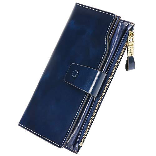 ab8542f88 Monederos Mujer Cartera de Mujer de Gran Capacidad con RFID Bloqueo Bolsos  Largo de Mujer con